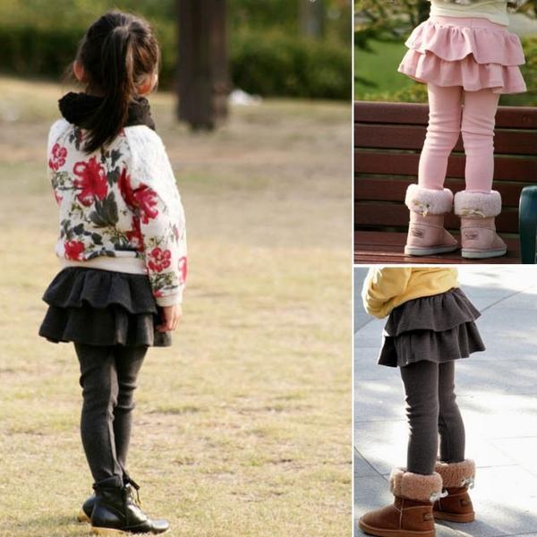 *╮小衣衫S13╭*加厚款女童甜美俏麗韓版蛋糕裙加絨長褲1071013