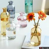 北歐玻璃透明水養桌面裝飾花瓶擺件客廳插花干花【探索者】