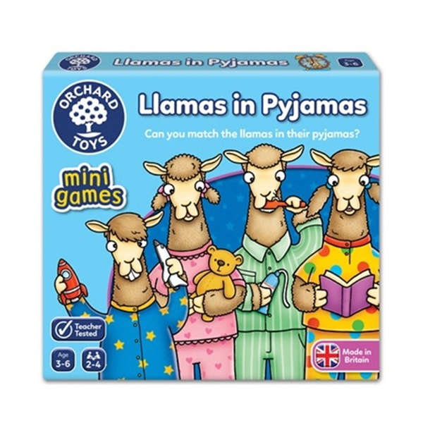 【英國 Orchard Toys】兒童桌遊-配對遊戲 羊駝睡覺囉! OT-358 Llamas in Pyjamas