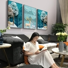 北歐風格裝飾畫現代簡約墻畫客廳壁畫沙發背景墻麋鹿掛畫三聯畫