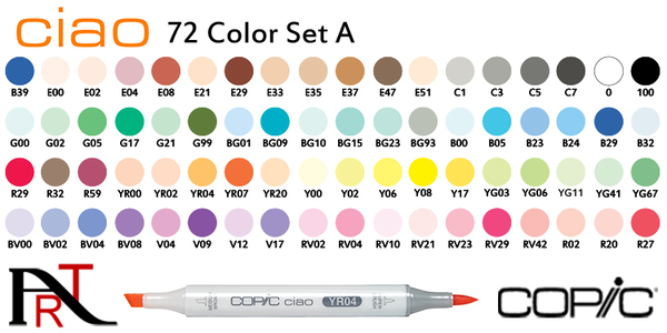 『ART小舖』日本Copic 三代麥克筆 日本進口 72色 A B 色系 單盒裝 72A或B 套組+手提盒