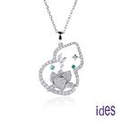 ides愛蒂思 輕珠寶時尚設計晶鑽項鍊鎖骨鍊/荷花葫蘆