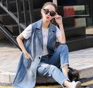 馬甲 秋夏新款韓版時尚牛仔馬甲女中長款無袖背心馬 夾外套女潮 免運快出