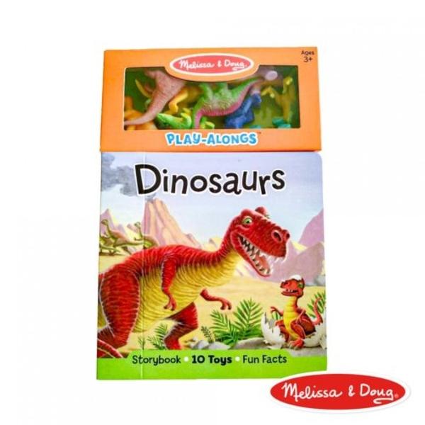 《 美國 Melissa & Doug 》美國瑪莉莎 童書-認識恐龍遊戲書,附恐龍公仔 / JOYBUS歡樂寶貝