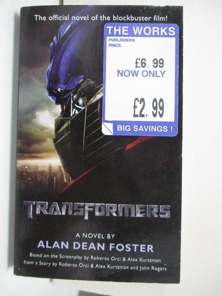 【書寶二手書T4/原文小說_AW7】Transformers_Alan Dean Foster