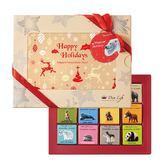 【Diva Life】比利時純巧克力片 聖誕相框禮盒(比利時純巧克力)