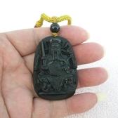 【歡喜心珠寶】【玄天上帝雕像墜子】天然黑曜岩雕「附保証書」消除業障最佳寶石,尋找有緣人