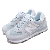 New Balance 休閒鞋 NB 574 灰 白 女鞋 運動鞋 復古慢跑鞋 麂皮 【ACS】 WL574OAAB