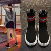 襪子鞋超火女新款百搭韓版原宿嘻哈街舞高筒運動鞋 【老闆大折扣】