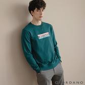 【GIORDANO】男裝 Retro Wave復古大學T恤 - 02 孔雀綠