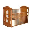 Baby City 動物熊搖擺中大床(柚木色)+床墊 BB49037BR[衛立兒生活館]