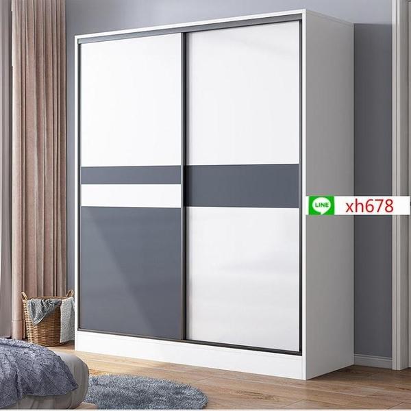 衣櫃現代簡約家用臥室出租房簡易櫃子儲物櫃收納櫃大人掛衣大衣櫥【頁面價格是訂金價格】
