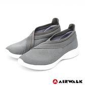 【AIRWALK】波浪編織健走鞋-灰-女款