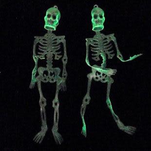 萬聖節 道具用品 整蠱裝飾 24cm骷髏骨架2個 45gn三組價