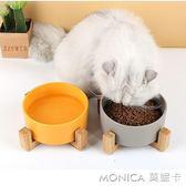 貓碗貓食盆寵物狗碗陶瓷碗大號雙碗單碗防打翻喝水碗狗狗貓咪用品 莫妮卡小屋