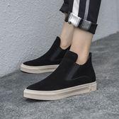 真皮短靴 復古 平底靴 高幫 切爾西 牛皮短靴/2色-夢想家-標準碼-1127