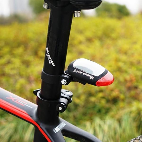 自行車尾燈山地車led警示燈太陽能尾燈騎行裝備【步行者戶外生活館】