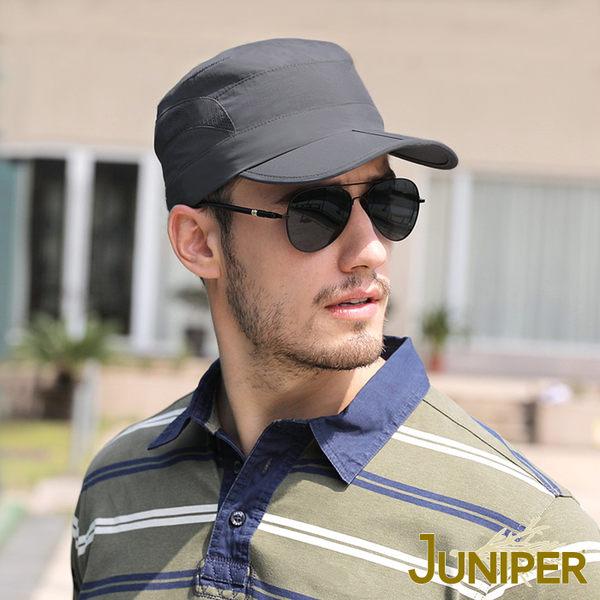 透氣軍帽-抗UV可收納防潑水透氣平頂軍帽J7599 JUNIPER