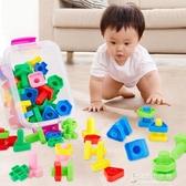 紓困振興 寶寶擰螺絲玩具1-2-3周歲兒童益智塑料形狀配對螺母組合拆裝玩具  [東京衣秀]