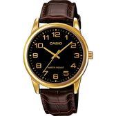 【台南 時代鐘錶 CASIO】卡西歐 台灣公司貨 MTP-V001GL-1B 古典品味指針式時尚腕錶