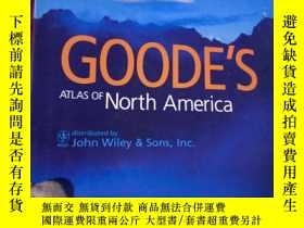 二手書博民逛書店GOODE S罕見ATLAS OF North America古