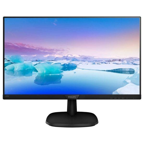 【狂降限量特價3480元】PHILIPS 243V7QDAB 24型IPS寬螢幕 搭配主機再送鍵鼠組