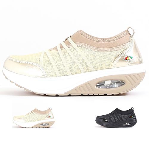 女款 Leon Chang 低調豹紋透氣網布 寬楦舒適 彈跳氣墊底 慢跑鞋 運動鞋 休閒鞋 氣墊鞋 59鞋廊