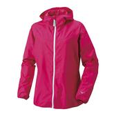 Mizuno [J2JC480365] 女款 運動 休閒 跑步 風衣 輕薄 連帽 外套 防風 保暖 桃紅