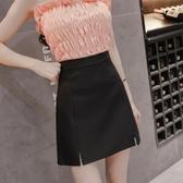 窄裙 短裙女夏季新款春高腰包臀a字黑色工作裙半身裙職業裝一步裙
