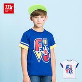 JJLKIDS 男童 Hi5動感個性印花短袖上衣 T恤(2色)