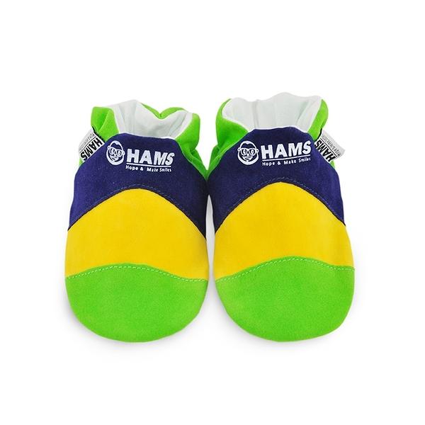 嬰兒學步鞋-HAMS純棉軟底麂皮防滑寶寶鞋-巴西/加拿大