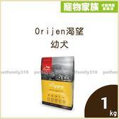 寵物家族-【活動促銷439】Orijen渴望幼犬牧野鮮雞配方1kg(效期20190613)