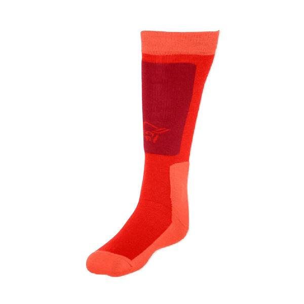 Norrona 老人頭 lofoten Mid Weight Merino Socks 美麗諾羊毛滑雪襪 中厚 火焰紅