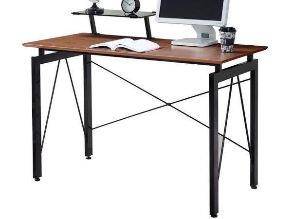 書桌 電腦桌 SB-386-2 歐雪4尺胡桃電腦桌(含上架) 【大眾家居舘】