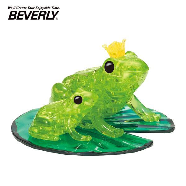 【日本正版】BEVERLY 青蛙 立體水晶拼圖 42片 3D拼圖 水晶拼圖 公仔 模型 動物模型 - 488484