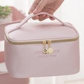 網紅化妝包便攜防水大容量收納包簡約日系少女化妝品手提袋洗漱包 創意空間