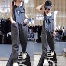 歐洲站2020新款勾勾背帶褲可愛歐貨工裝寬鬆兩面穿連身牛仔褲女 依凡卡時尚
