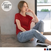 《KS0621-》台灣製造~立體織紋寬口袖機能吸濕排汗上衣 OB嚴選