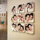九宮格照片墻 創意客廳畫框組合臥室相框墻 掛墻相片墻jy【完美男神】