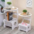 床頭櫃現代簡約北歐式床頭櫃臥室小圓桌客廳茶幾 【618特惠】