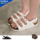 女款 經典極簡舒適柔軟基本 休閒厚底涼鞋...