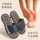 按摩拖鞋腳足底穴位足療太極旋轉按摩鞋男女家居涼拖鞋夏季