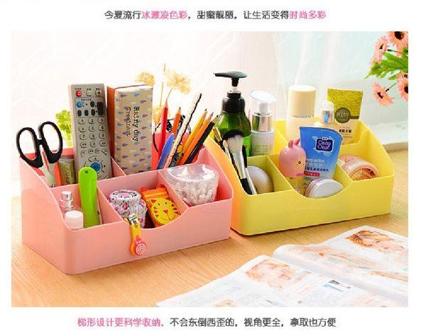 5604 化妝品收納盒化妝刷桌面收納抽屜式口紅塑料梳妝臺
