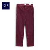 Gap女裝 Jolin明星同款多選色斜紋布條紋男友風卡其褲 256476-深紫紅色