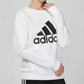 Adidas Essentials 女款 白色 大學T 長袖 上衣 DX7965