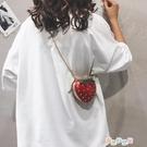 包包小包女包夏天小清新草莓包個性迷你鏈條包百搭單肩斜挎包