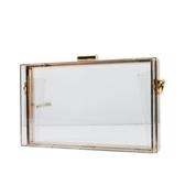 晚宴包-透明方型壓克力鏈條女手拿包73ft22【時尚巴黎】