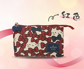 【Hello Kitty】凱蒂躲貓貓-手拿包-紅色 HLKT0X006RD