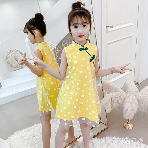 女童連身裙夏季2020新款兒童漢服小公主裙超洋氣中大童旗袍洋裝潮 yu12969『寶貝兒童裝』