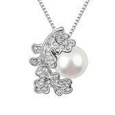 項鍊 925純銀 珍珠墜飾-奢華絢麗生日情人節禮物女飾品銀飾3色73aj586[時尚巴黎]